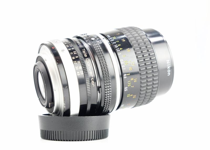 NIKON MF 55mm f2.8 Micro + teleconvertor 2x