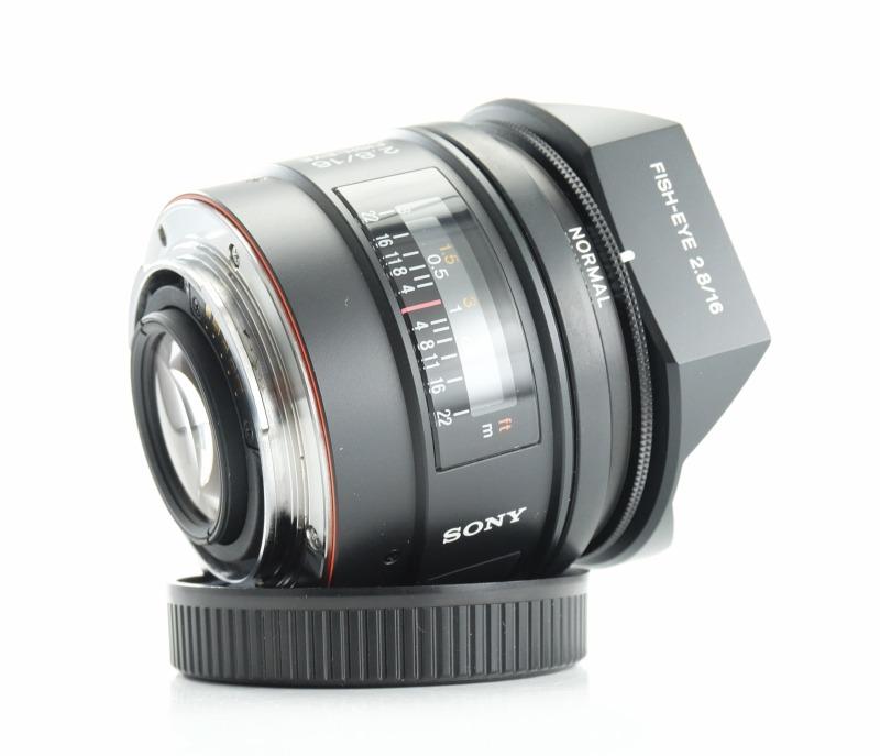 SONY 16 mm f/2,8 Rybí oko