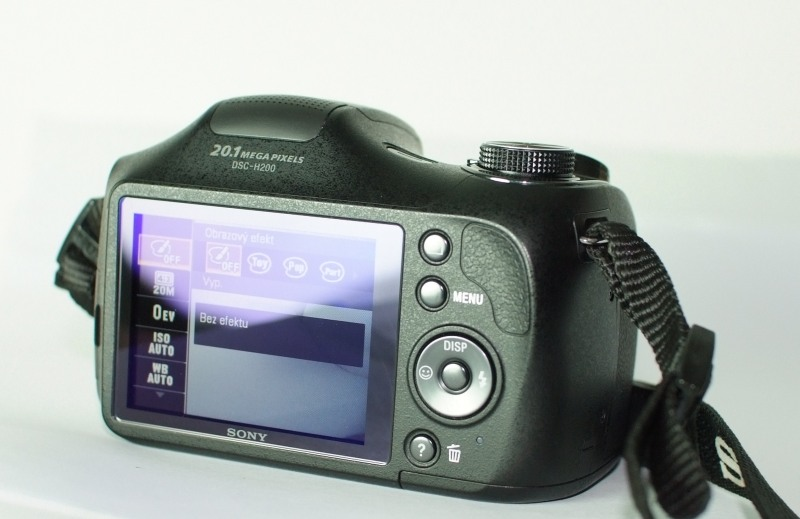Sony Cyber-Shot DSC-H200  TOP STAV