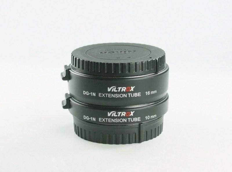 Viltrox dg-1 N 10 mm + 16 mm makro mezikroužky pro Nikon 1